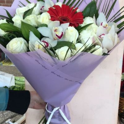 Букет троянд білих троянд Львів